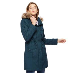 Maine New England Turquoise Shower Resistant Padded Coat