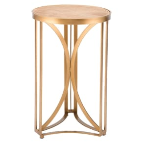 15 Luxe Round Steel Accent Table - Gold - Zm Home