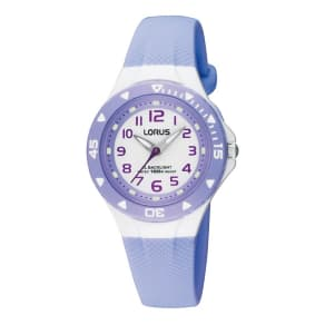 Lorus Kids' Lilac Polyurethane Strap Watch With Back Light Rrx51cx9