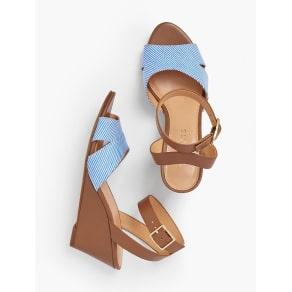 Talbots: Vivian Wedge Sandals: Cotton