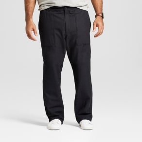 Men's Big & Tall Straight Utility Cargo Pants - Goodfellow & Co Black 60x30