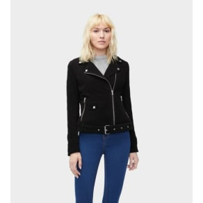 Ugg Stacey Suede Moto Jacket Womens Outerwear Black L