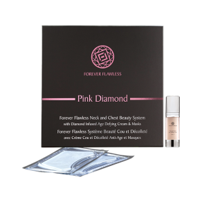 Forever Flawless Neck and Chest Beauty System with Diamond Infused Age‐Defying Cream and Masks