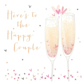 Bellybutton Bubble Happy Couple Wedding Card