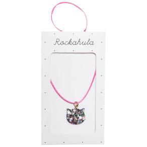 Rockahula Children's Glitter Cat Necklace, Pink