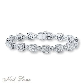 Neil Lane Designs Bracelet 3 Ct Tw Diamonds 14k White Gold- Tennis