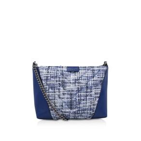 Kurt Geiger London Tweed Sth Kensington Bag, Blue