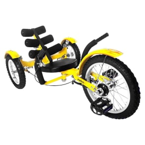 Mobo Youth Mobito 16 Three Wheeled Cruiser Tricycle - Yellow