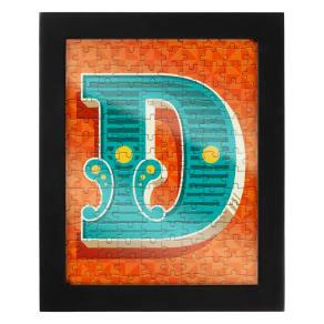 Wild & Wolf Letter D Jigsaw & Frame
