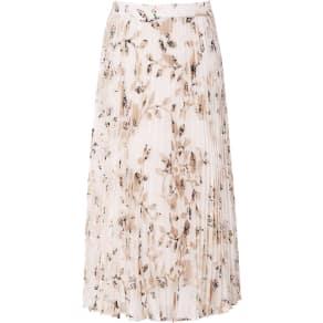 Reiss Alisandra - Floral Print Pleated Skirt in Multi, Womens