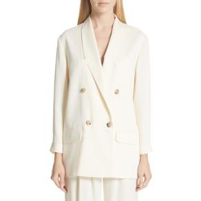 Women's Magda Butrym Double Breasted Blazer, Size 2 US / 34 Fr - Ivory