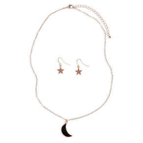 Girl's Capelli New York Wonderland Moon Necklace & Star Earrings Set
