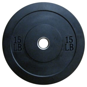 Lifeline Olympic Rubber Bumper Plate - 15lbs, Black