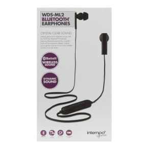 Intempo Earphones, Black, Black