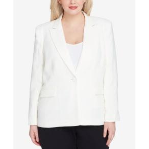 Tahari Asl Plus Size One-Button Blazer