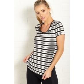 Body - Gym Tee - Black/White Fancy Stripe