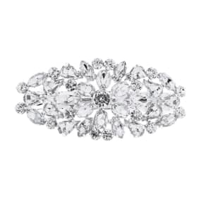 The Collection Silver Crystal Cluster Hair Clip
