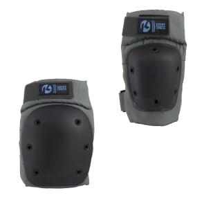Kryptonics Pro Small/Medium Knee & Elbow Pad Set - Battleship, Black