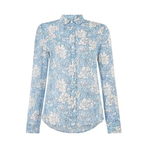 Gant Full Bloom Relaxed Floral Print Shirt, Light Blue
