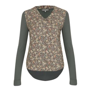 Confetti Floral Woven Front Top