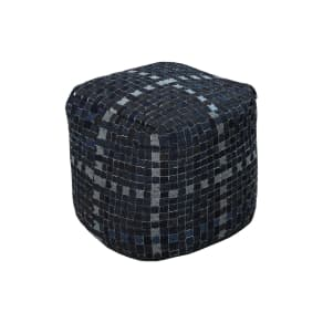Surya Home Denim Pouf