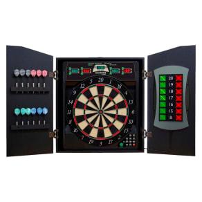 Bullshooter Cricket Maxx 5.0 E-Bristle Cabinet and Dartboard Set, Multi-Colored