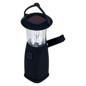 Whetstone 6 Led Camping Lantern - Solar and Dynamo Powered, Black