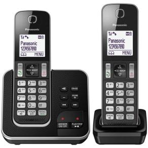 Panasonic Digital Cordless Telephone Twin Answerphone Kx-Tgd322eb