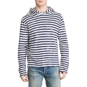 Denim & Supply Ralph Lauren Long Sleeve Hoodie, Sea Spray Stripe