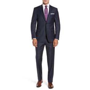 Men's Peter Millar Flynn Classic Fit Windowpane Wool Suit