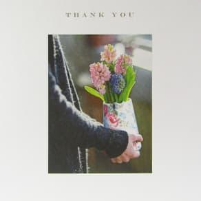 Susan O'Hanlon Hyacinths Thank You Card
