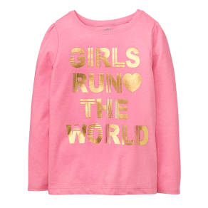Girl's Girls Run the World Tee by Crazy 8 - Neon Pink by Crazy 8