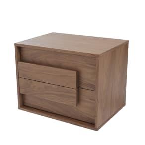 Median Bedside Table Walnut