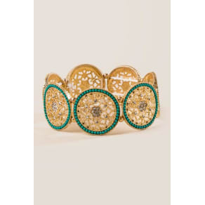 Tao Filigree Turquoise Bracelet - Turquoise