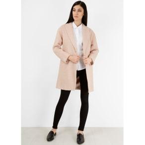Pale Pink Slouchy Wool Coat