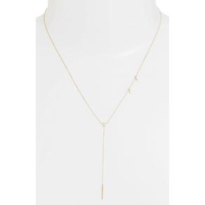 Women's Zoe Chicco Diamond & Opal Bar Drop Lariat Necklace