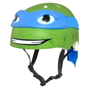 Raskullz Teenage Mutant Ninja Turtles Child Helmet - Leonardo, Green