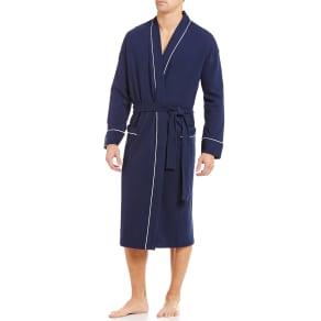 Roundtree & Yorke Waffle-Knit Kimono Robe