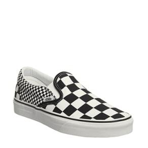 Vans Classic Slip on Black White Mix Check