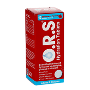 Ors Hydration Strawberry 12 Soluble Tablets