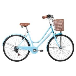 Gama Bikes Women's Basic 26 6-Speed Urban Hybrid Commuter - Celeste, Blue