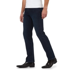 The Collection Big and Tall Blue Straight Fit Stretch Jeans