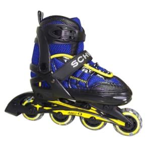 Schwinn Boy's Adjustable Inline Skate - Black/Blue 5-8, Blue/Gray