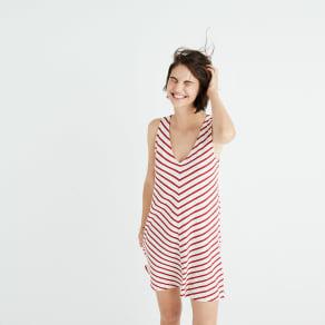 Mitered Stripe Tank Dress