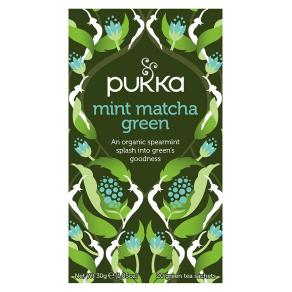 Pukka Mint Matcha Green - 20 Green Tea Sachets (30g)