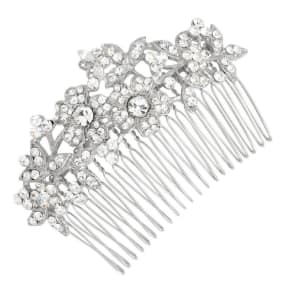 Jon Richard Vintage Multi Flower Pave Crystal Hair Comb