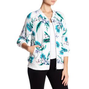 Anjelica Floral Print Bomber Jacket