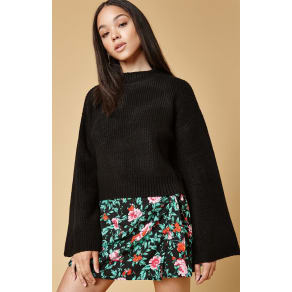 Honey Punch Easy Pullover Sweater - Black
