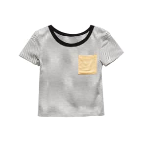 Full Tilt Stripe Pop Girls Pocket Tee