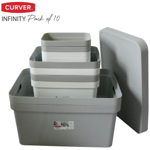 Curver Modular Infinity Storage Boxes - 10 Pack